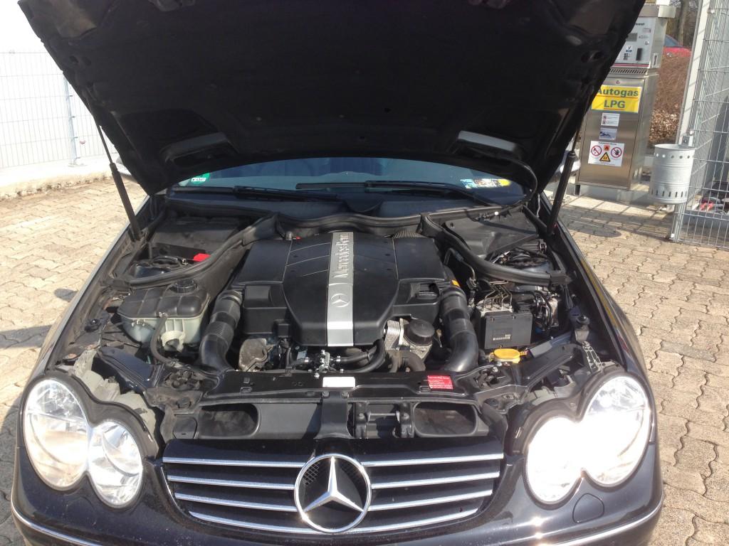 Autogas-Umruestung-LPG-Frontgas-Mercedes-CLK320-W209-System-1024x768