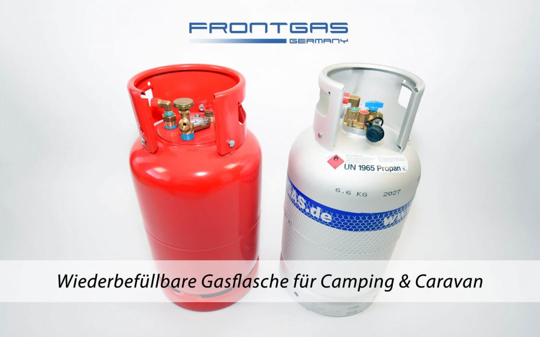 Wiederbefüllbare Gasflasche für Camping & Caravan