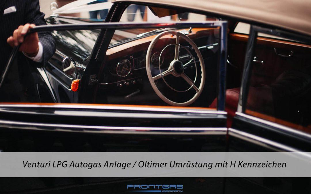 Venturi LPG Autogas Anlage / Autogas Umrüstung bei Oldtimern mit H Kennzeichen