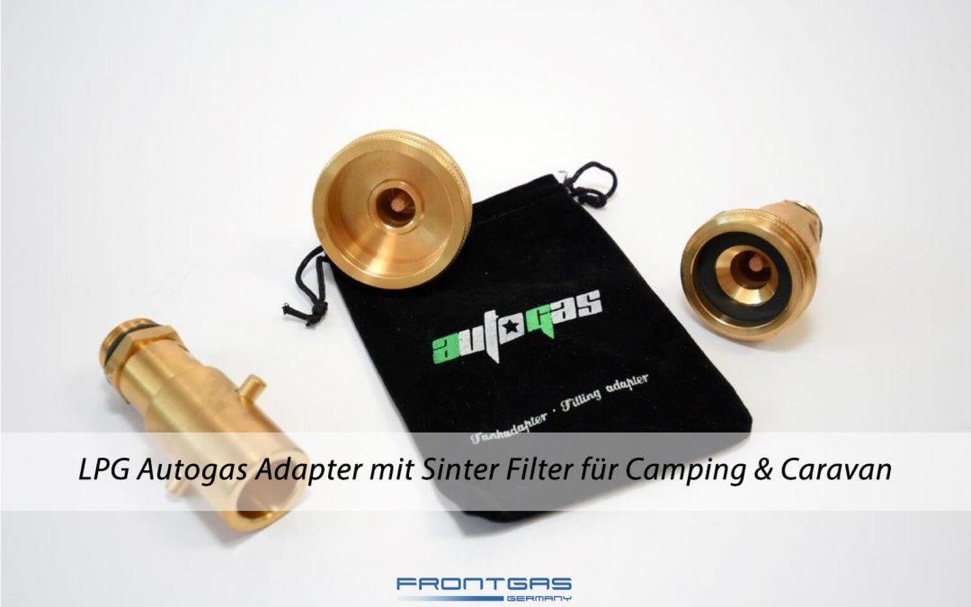LPG Autogas Adapter mit Sinter Filter für Camping & Caravan