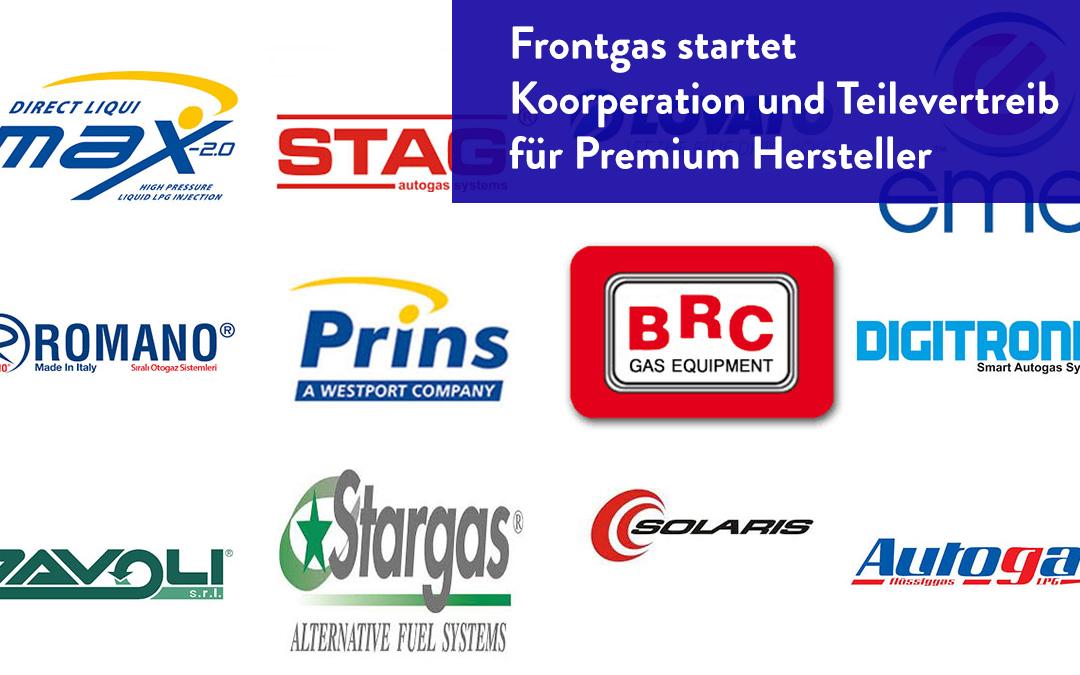 Frontgas startet Koorperation und Teilevertreib für Premium Hersteller