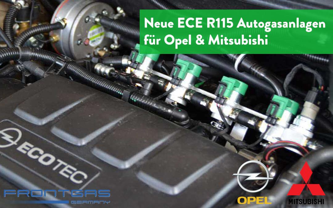 Neue ECE R115 Autogasanlagen für Opel & Mitsubishi