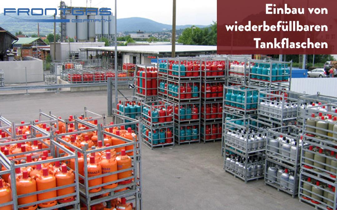 Einbau von wiederbefüllbaren Tankflaschen