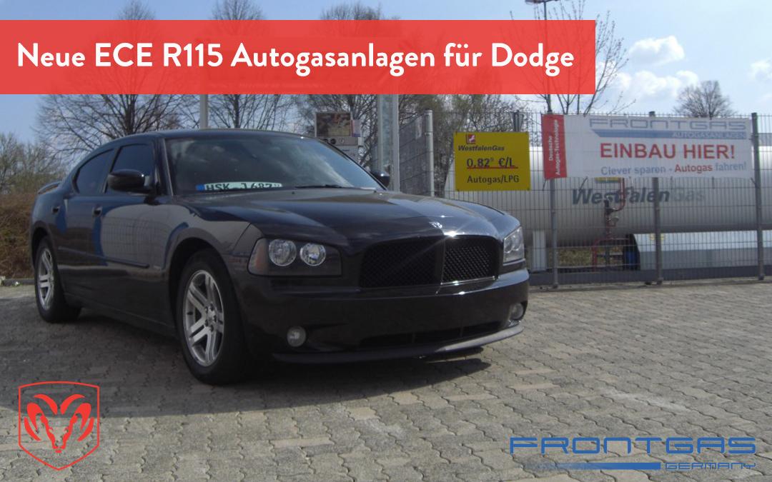 Neue ECE R115 Autogasanlagen für Dodge bei Frontgas