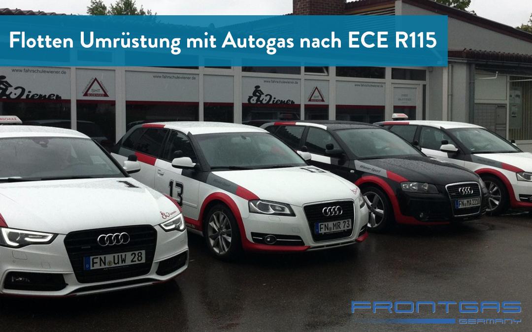 Flotten Umrüstung mit Autogas nach ECE R115