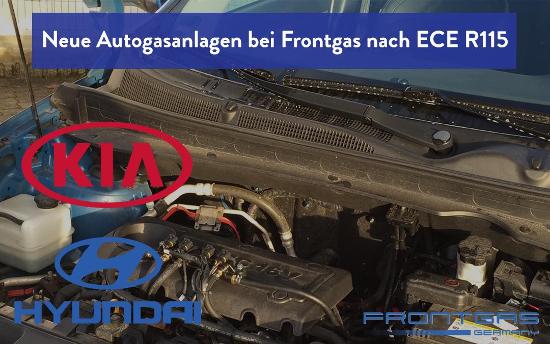 Neue Autogasanlagen bei Frontgas nach ECE R115 Kia & Hyundai wahlweise mit bis zu 7 Jahren Motorschutzgarantie