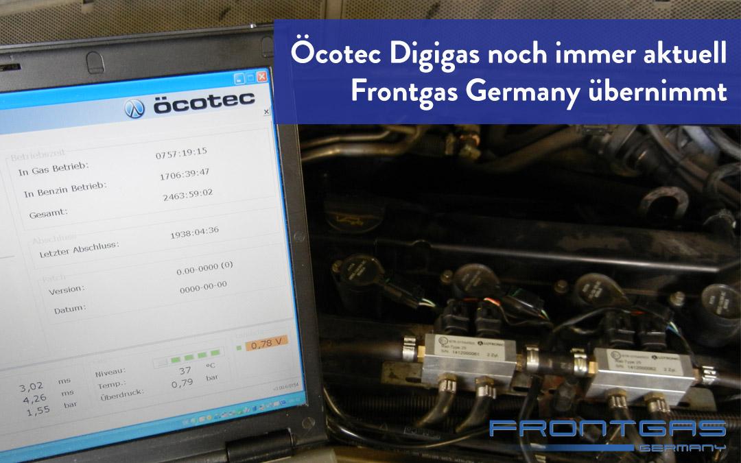 Öcotec Digigas noch immer aktuell – Frontgas Germany übernimmt
