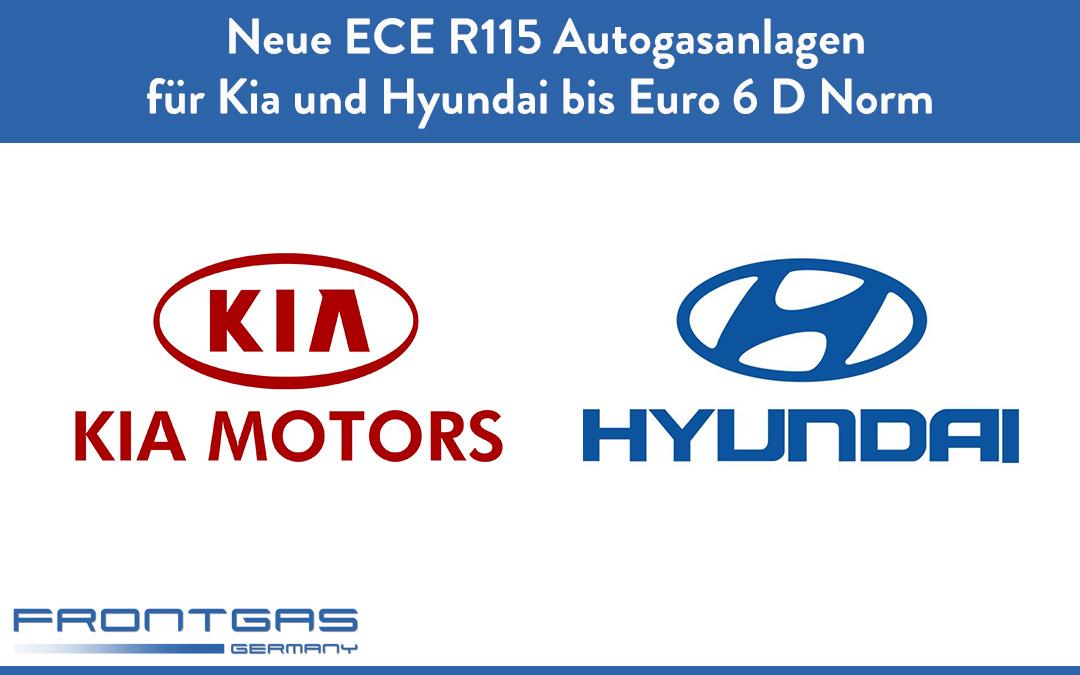 Neue ECE R115 Autogasanlagen für Kia und Hyundai bis Euro 6 D Norm