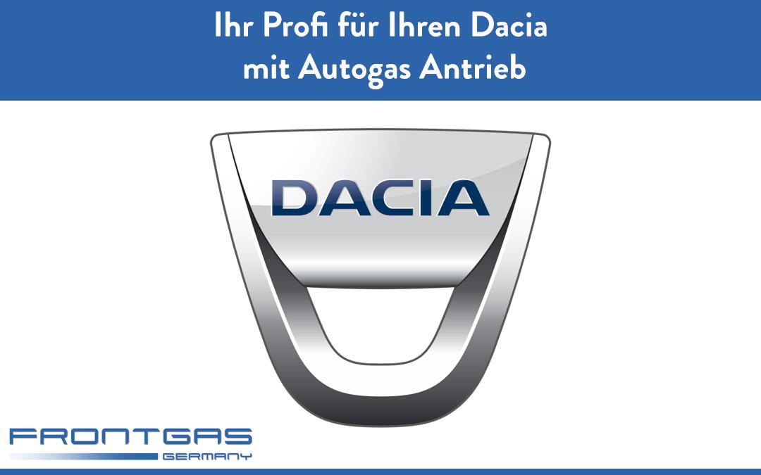 Frontgas Ihr Profi für Ihren Dacia mit Autogas Antrieb