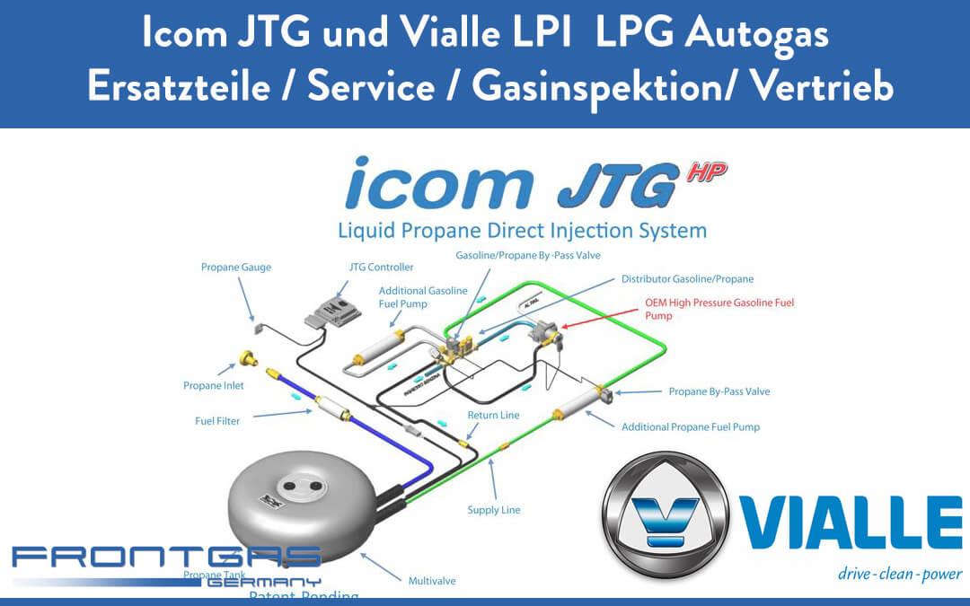 Icom JTG und Vialle LPI  LPG Autogas