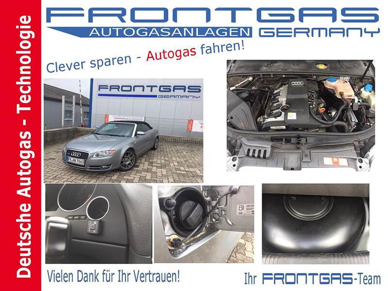 Autogas-LPG-Einbau-Umbau-Audi-A4-2,0-Direkteinspritzer-R115-Frontgas-Landirenzo-1