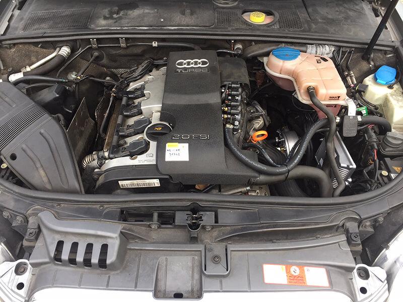 Autogas-LPG-Einbau-Umbau-Audi-A4-2,0-Direkteinspritzer-R115-Frontgas-Landirenzo-3