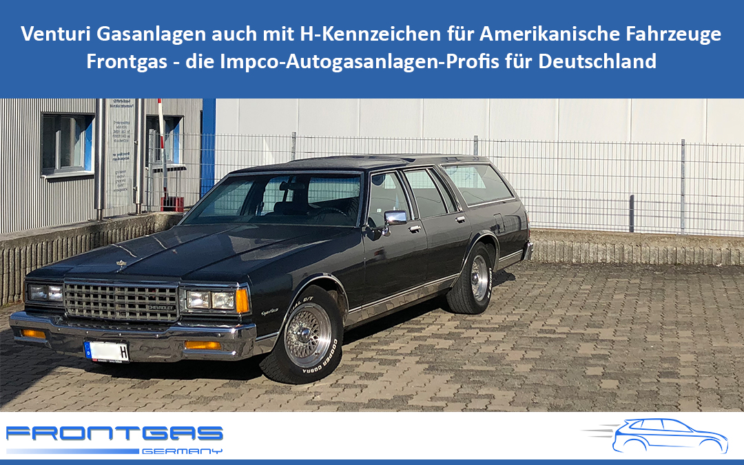 Venturi Gasanlagen auch mit H Kennzeichen für Amerikanische Fahrzeuge Frontgas die Impco Autogasanlagen Profis für Deutschland