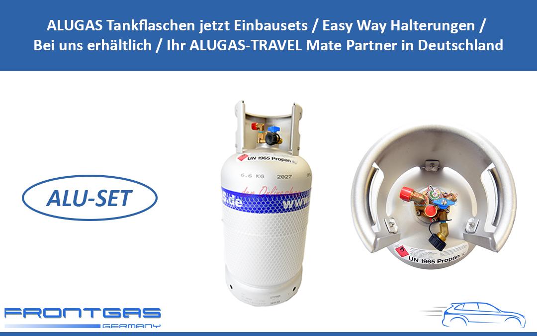 ALUGAS Tankflaschen jetzt Einbausets / Easy Way Halterungen / Bei uns erhältlich / Ihr ALUGAS-TRAVEL Mate Partner in Deutschland